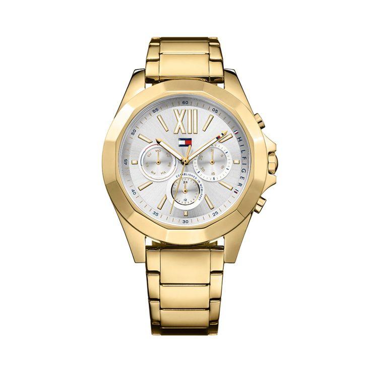 Γυναικείο ρολόι TOMMY HILFIGER 1781848 Chelsea με ασημί καντράν & επίχρυσο ατσάλινο μπρασελέ | Ρολόγια TOMMY HILFIGER ΤΣΑΛΔΑΡΗΣ στο Χαλάνδρι #tommyhilfiger #chelsea #μπρασελε