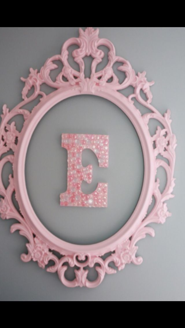 I have something similar to this as a mirror... I can bust out the mirror and decorate a letter!