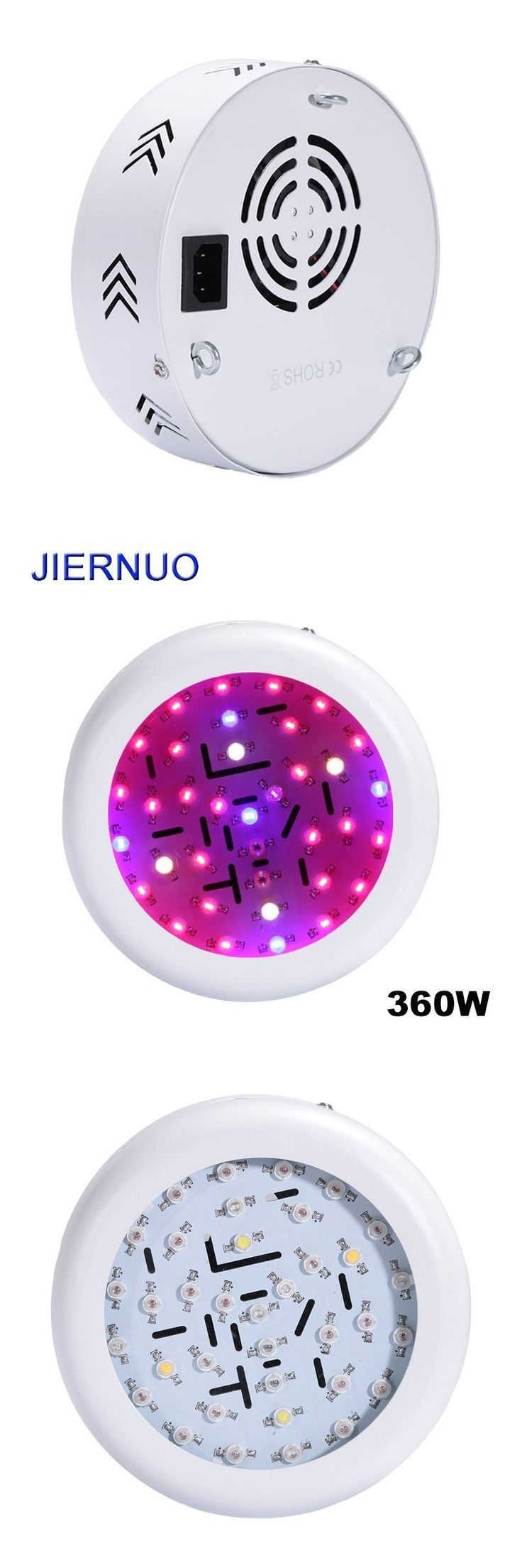 360W LED Plant Light UFO 10W Double Chips AC85~265V Red+Blue+warm white+white+IR+UV LED Grow Lights Hydroponics Flowers grow AE #hydroponicsflowers