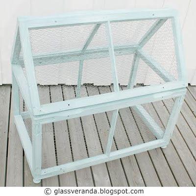 Glassveranda: Prosjekt Fuglebur eller minidrivhus, før - etter bilder. Trinn for trinn oppskrift!