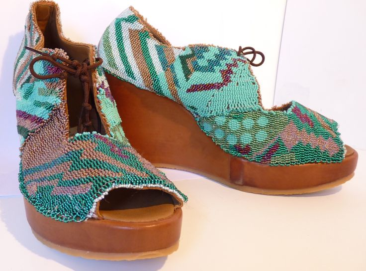 Beaded shoes - consignment | Woza Moya Craft Store | Durban, South ...