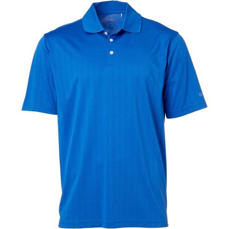 Walter Hagen Men's Essentials Textured Golf Polo, Size: Medium, Blue