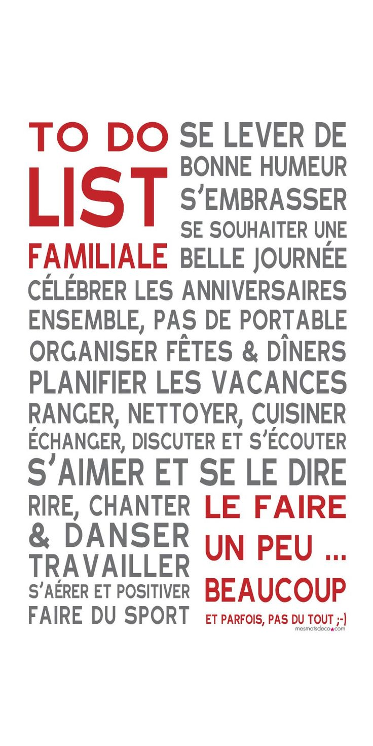 To Do List ® Blanc collection originale