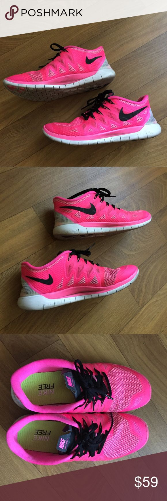 Pink rare Nike free run 5.0 shoes Pink Nike Free Run 5.0 running shoes used in great condition Nike Shoes Athletic Shoes
