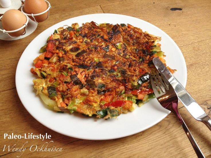 Paleo recept, lunch: Groenteomelet