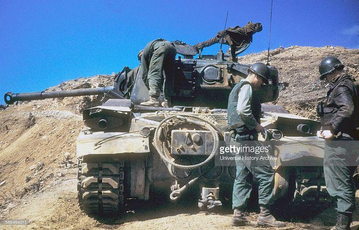 World War Two M26 Pershing medium tank, Korea, 1950s.