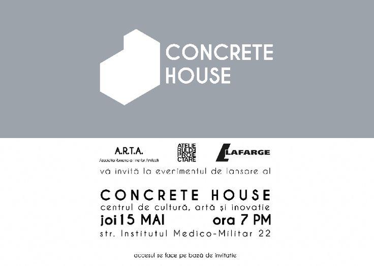 EFdeN merge la Concrete house - Launch Party. Pentru că ne place ideea unui centru de cultură și inovație dedicat arhitecților!