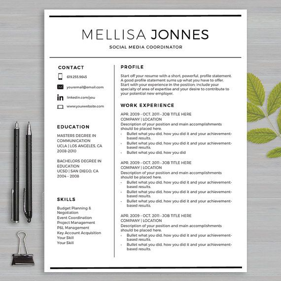 19 best Resume Templates Microsoft WORD images on Pinterest - check my resume
