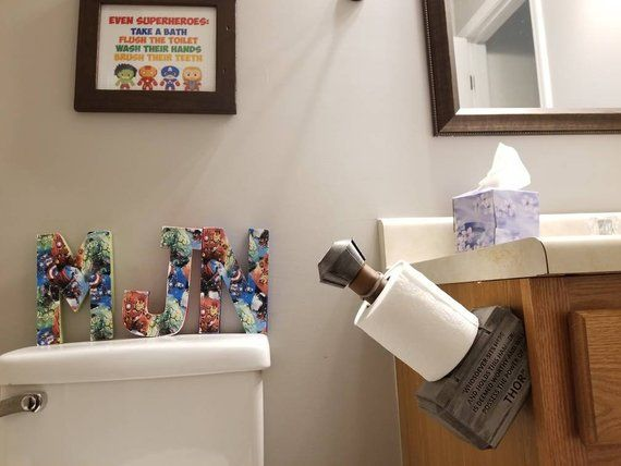 Details About Mjolnir Thor S Hammer Toilet Paper Holder Marvel