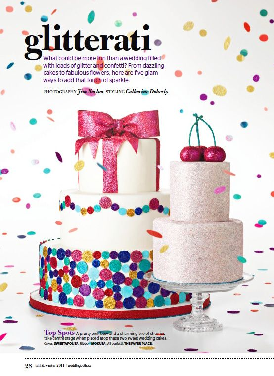 glitter cakes!Colors Combos, Polka Dots, Belle Magazines, Edible Glitter, Cake Inspiration, New Years Eve, Glitter Polka, Glitter Cake, Wedding Cake