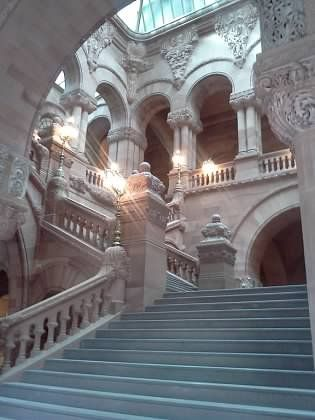 Interior Steps, New York State Capital Building, Albany, New York