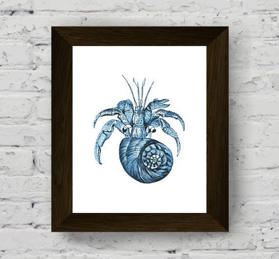 coastal prints, nautical watercolor, bathroom wall art, sea print, seaweed art, marine wall decor, wall art prints, digital download