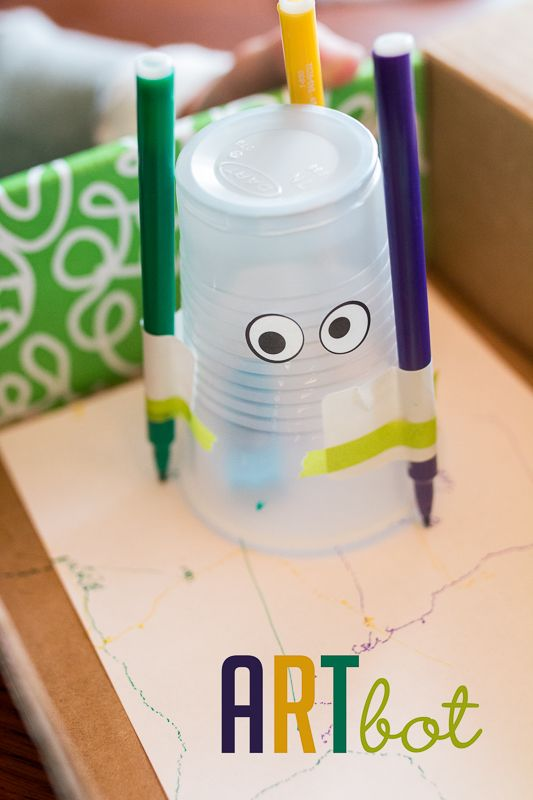 How to make an artbot (robot craft for kids)