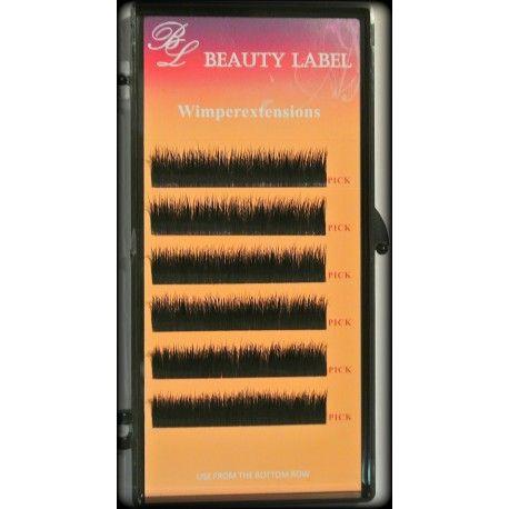 Beauty Label D Krul Real Mink Dit doosje bevat 6 rijtjes Deze echte mink haartjes bestaan maar uit 1 dikte en verschillende lengtes : 8mm, 9mm, 10mm, 11mm, 12mm, 13mm, 14mm, 15mm. De wimpers van Beauty Label zijn van zeer hoge kwaliteit.