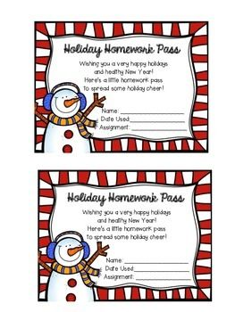 Looking to spread some holiday cheer? Give your students the gift of a homework pass to lighten their homework load!