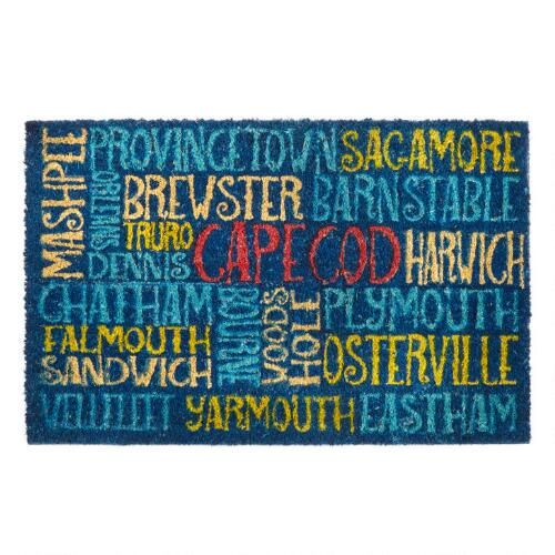 """One of my favorite discoveries at ChristmasTreeShops.com: """"Cape Cod"""" Towns Coir Door Mat"""