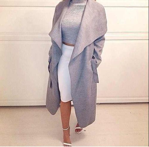 Best 25  Waterfall coat ideas on Pinterest | Black waterfall coat ...