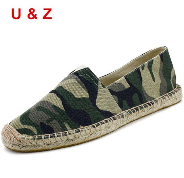 Nouveau Camouflage Pêcheur Chaussures Hommes Appartements Toile  Hommes Casual Chaussures Talons Plats D'été Loisirs Conduite  Chaussures ...
