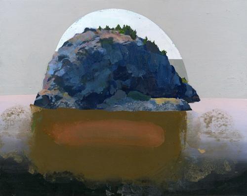 Siobhan McBride - Iceberg Point, 2011 - Gouache on Paper on Panel - 9.5 x 12 in