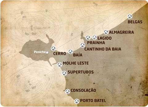 Peniche & Baleal Surf Spots Map Good Surf Good Love www.goodsurfgoodlove.com