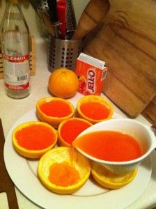 Classy Jello Shot Orange Wedges but I think it would be cool without the alcohol