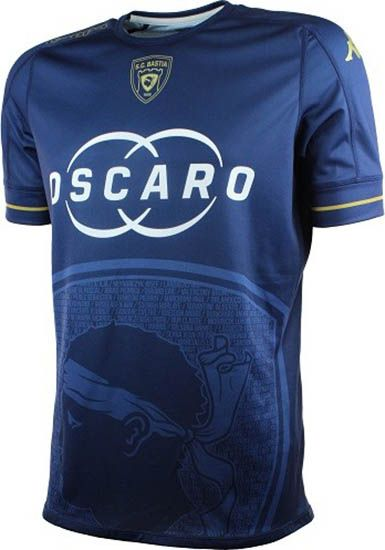 The new Kappa SC Bastia kit introduces a classy design.