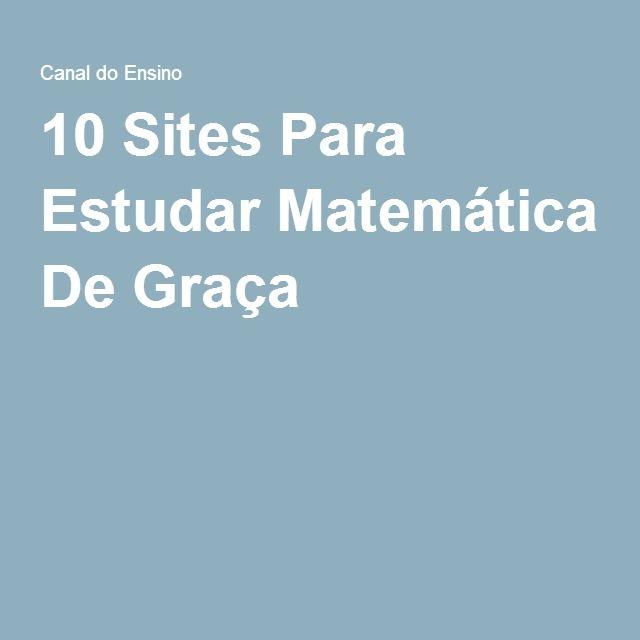 10 Sites Para Estudar Matemática De Graça