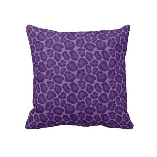 Girly Purple Leopard Pattern Pillow. Would be great in a girls bedroom!
