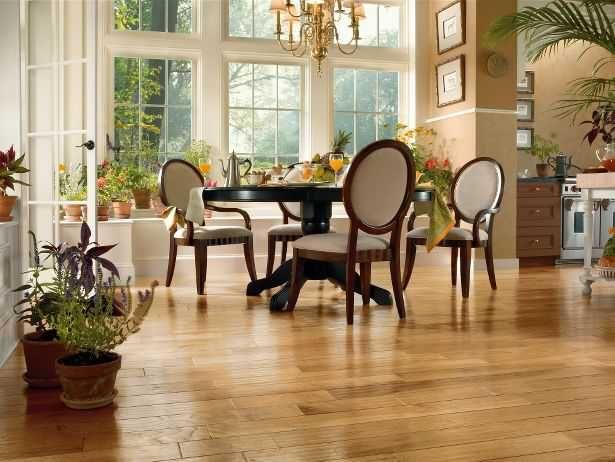 Bright Hickory Wood Floors Large Design