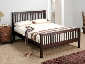 double bed dark wood - Google Search