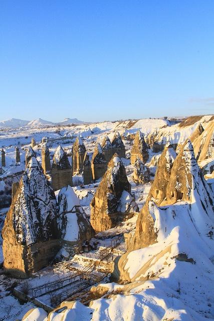 Snow in Cappadocia, Turkey