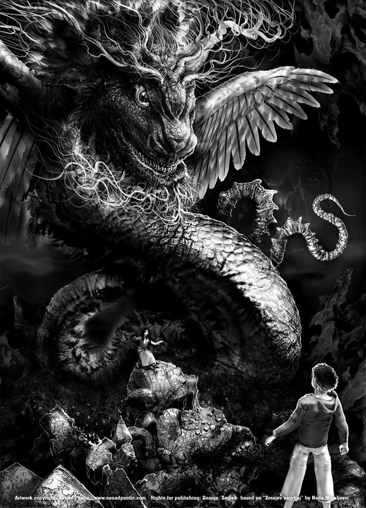 Black And White Fantasy Artwork