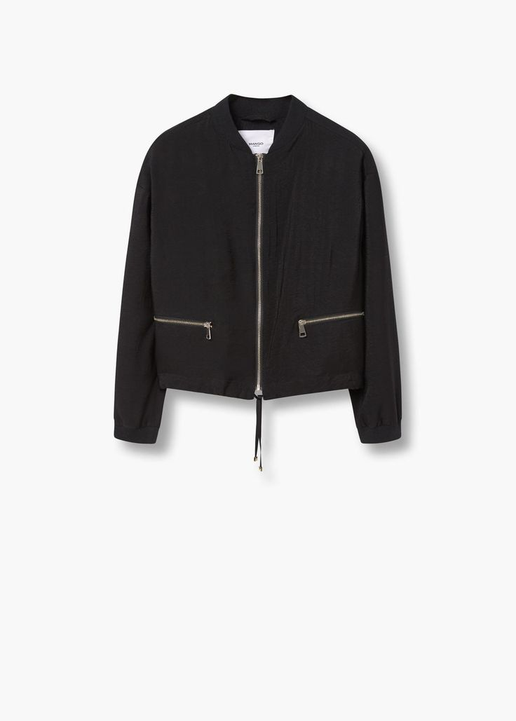 Zipped bomber jacket | MANGO