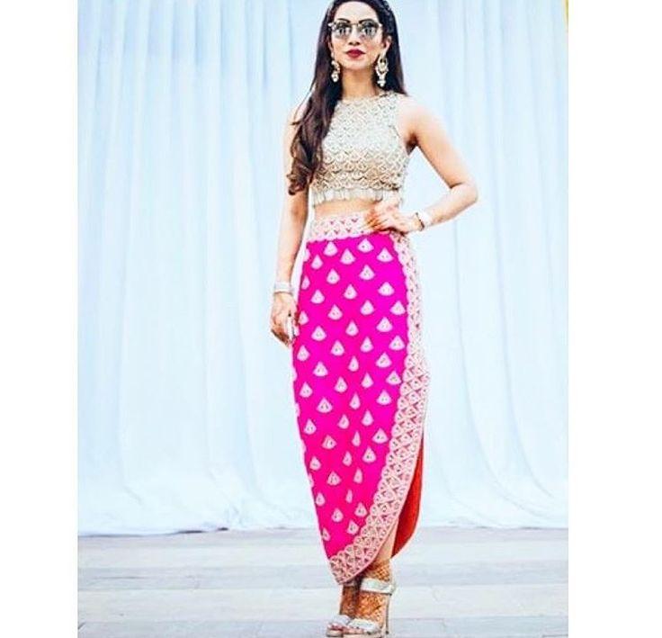 Arpita Mehta # indo western # draped dress # fusion wear #