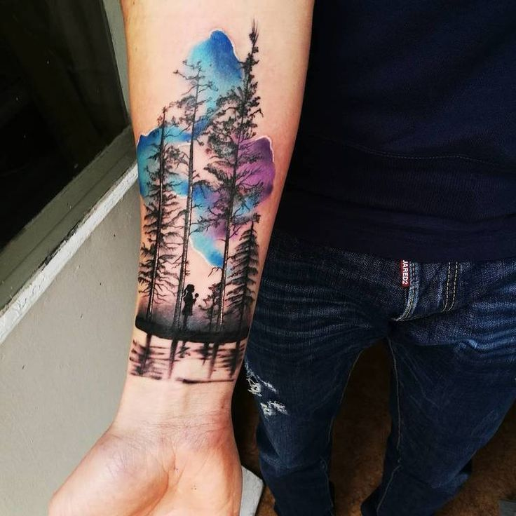 40 Creative Forest Tattoo Designs And Ideas Artists 40 Creative Forest Tattoo Designs And Ideas Artists Creati In 2020 Silhouette Tattoos Sky Tattoos Tattoos