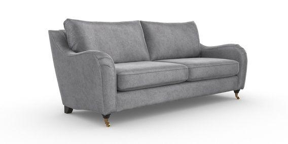 Buy Hepburn Large Sofa 3 Seats Antique Velvet Light Grey Castor Dark From The Next Uk Online Shop Large Sofa Love Seat Seating