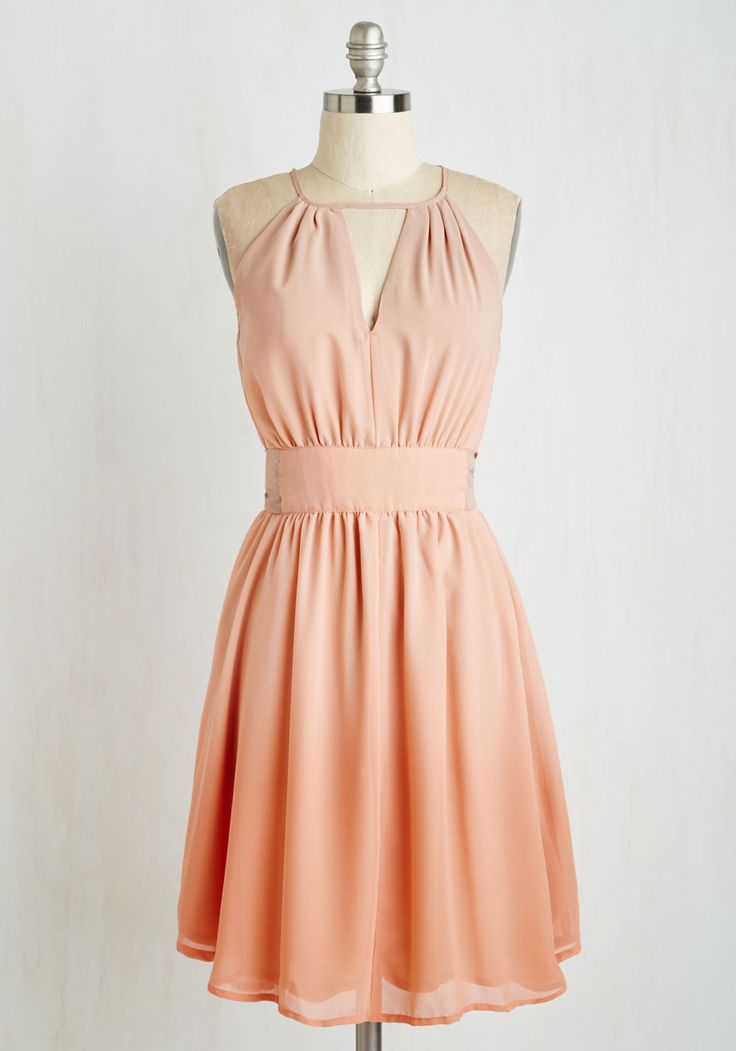 In Gradient Demand Dress in Peach. With a brimming social calendar, you wont waste time searching for the perfect party ensemble once this ombre dress is in your wardrobe! #orange #wedding #bridesmaid #modcloth