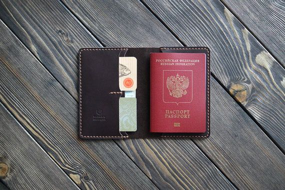 Leather Passport Cover and document holder. Passport Case. Travel wallet. Hand Made.