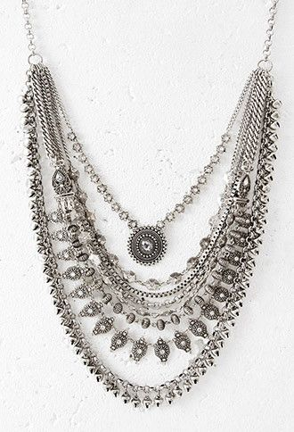 Layered Chain Statement Necklace | Forever 21 - 1000130284