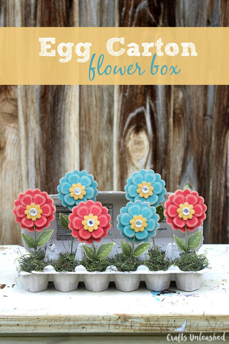 Egg Carton Craft Flower Box Crafts
