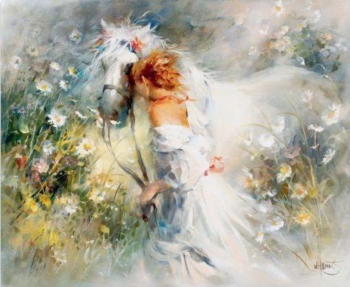 Willem Haenraets. Воздушная живопись. White dream