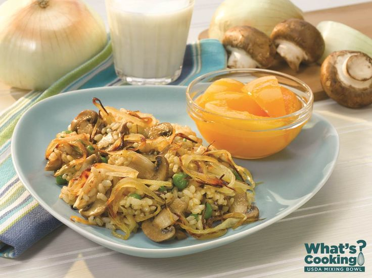 Caramelized Mushroom & Vidalia Onion Risotto #veggies #grains #dairy #MyPlate #WhatsCooking (Source: MyPlate)