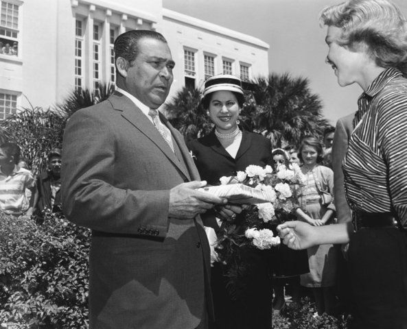 The art collection is a legacy of former Cuban dictator Fulgencio Batista, who lived in Daytona Beach off and on during the 1940s and 1950s.