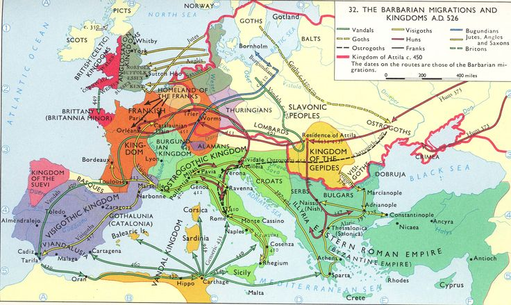 The Barbarian Migrations & Kingdoms (516) #Europe
