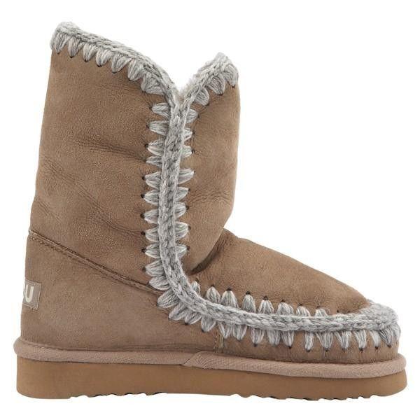 Mou Eskimo Short Boots Women Dark Stone - MOU #mou #eskimo #boots #women #fashion http://www.mouboots-sale.com/
