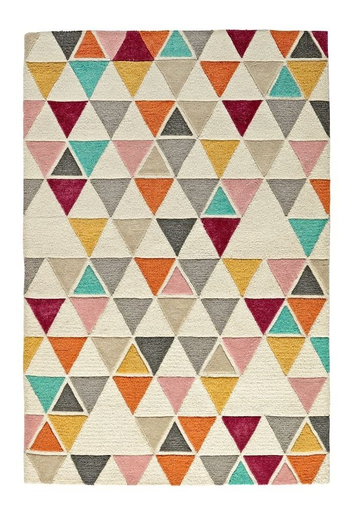 Shop Totally Triangular Kids Rug.  When it comes to this Totally Triangular Kids Rug, we're not trying to be obtuse.  We just think the multicolored triangle rug will look great in your home.
