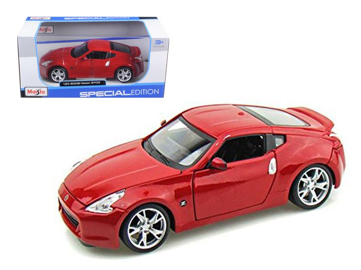 2009 Nissan 370Z Red 1/24 Diecast Model Car by Maisto - Brand new 1:24 scale diecast car model of 2009 Nissan 370Z die cast car by Maisto. Brand new box. Rubber tires. Has opening hood and doors. Made of diecast with some plastic parts. Detailed interior, exterior, engine compartment. Dimensions approximately L-8,W-3,H-2.5 inches. Please note that manufacturer may change packing box at anytime. Product will stay exactly the same.-Weight: 2. Height: 6. Width: 11. Box Weight: 2. Box Width: 11…