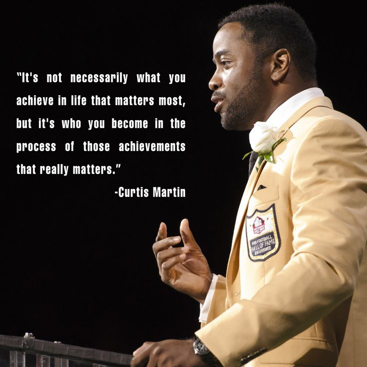 Click on the image to read Curtis Martin's entire Pro Football Hall of Fame enshrinement speech transcript.