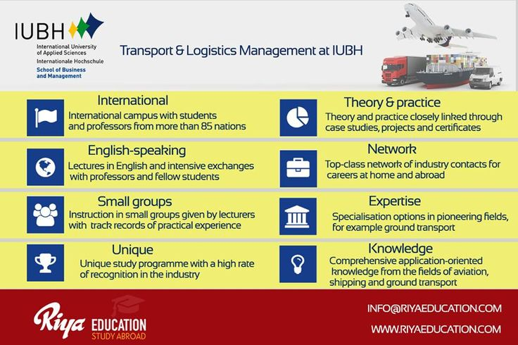 Study Transport & Logistics Management at IUBH. Get in touch with Riya Education. Visit our website for contact details.  #studyingermany #studyabroad #iubh