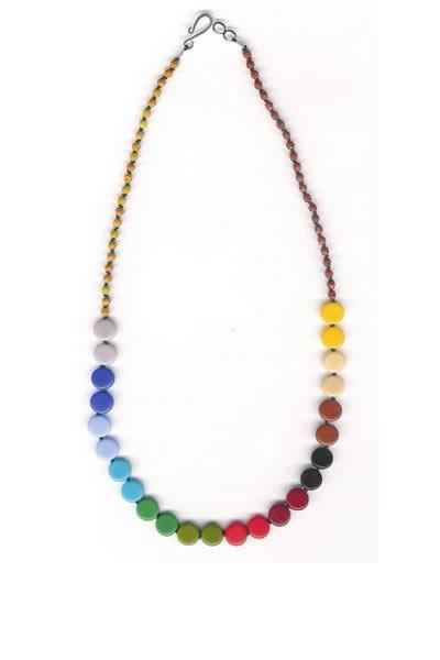 I. Ronni Kappos Rainbow Multi Disk Necklace: $195